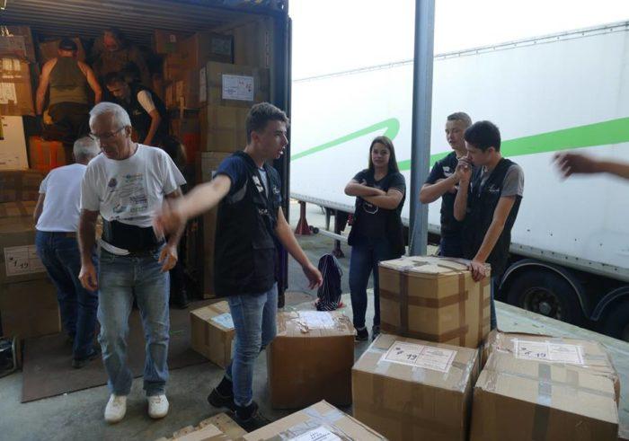Conteneur humanitaire avec Vendée-Burkina - 1e bac pro logistique